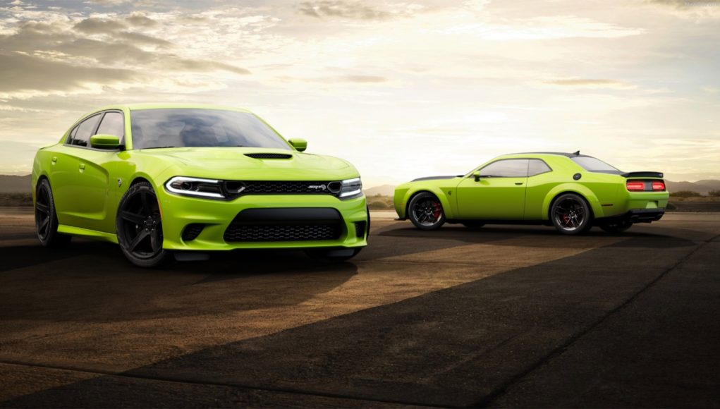 2019 Dodge Charger and Challenger in Sublime