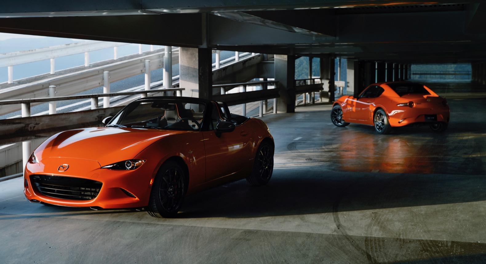 2019 mazda mx 5 miata 30th anniversary edition arrives in racing orange the torque report. Black Bedroom Furniture Sets. Home Design Ideas