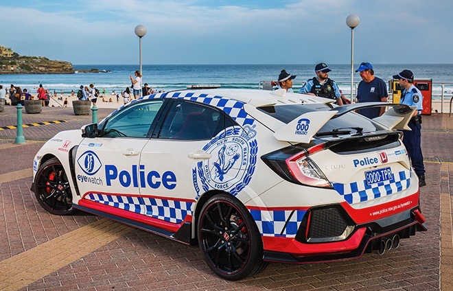 Honda Civic Type R Police Vehicle