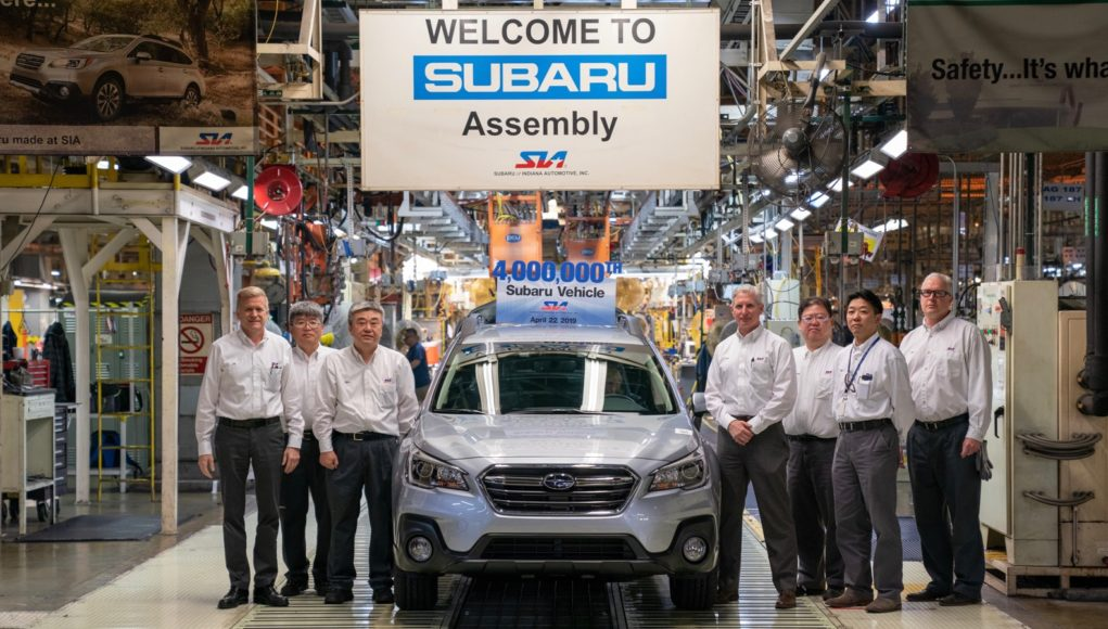 Subaru 4 Millionth Vehicle