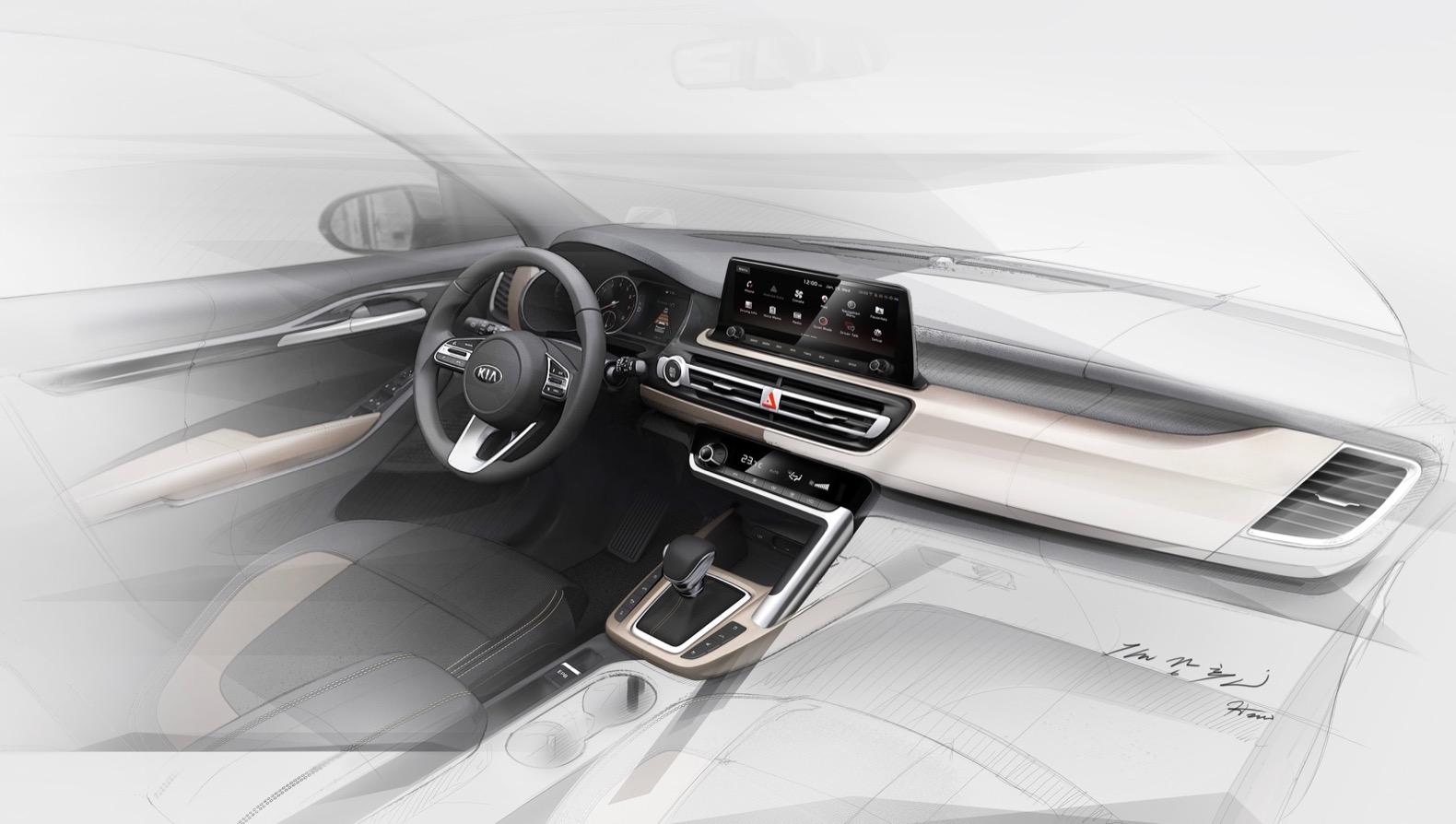 2020 Kia small SUV interior gets a 10 25-inch screen   The