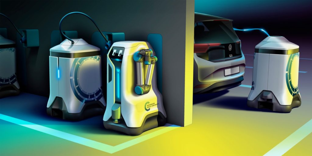 VW mobile charging robot