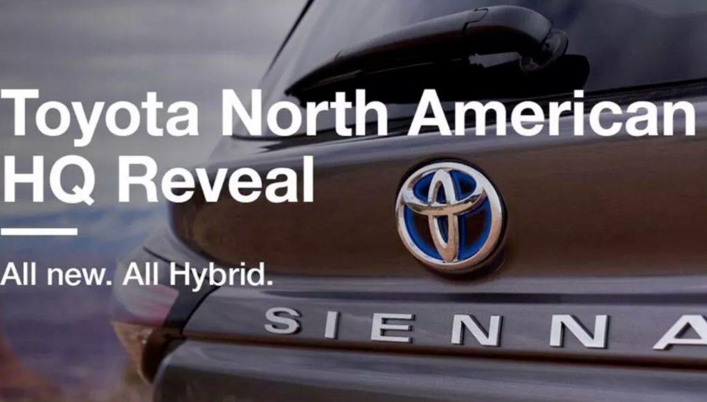 2021 Toyota Sienna Leak