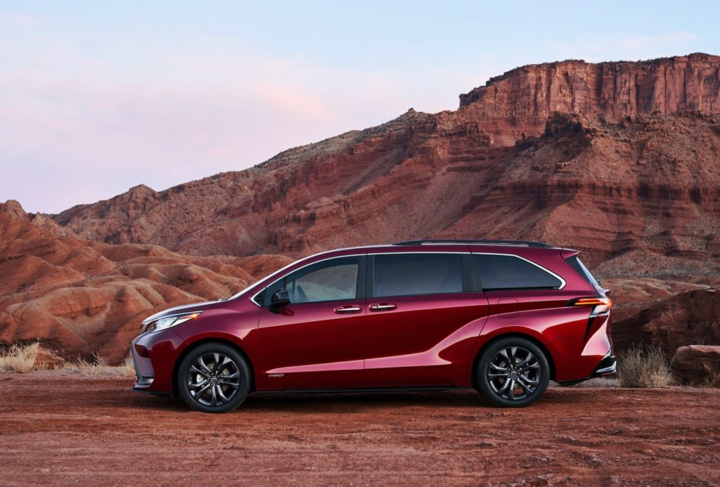 2021 toyota sienna goes full hybrid with more style  the