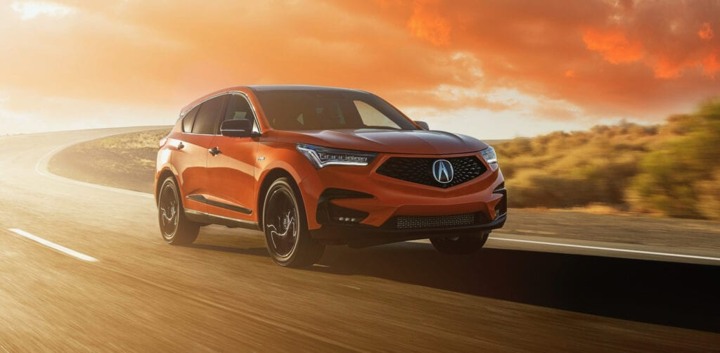 2021 acura rdx pmc edition debuts in thermal orange pearl
