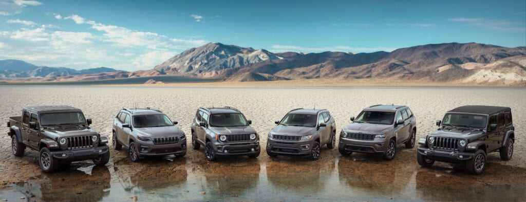 2021 Jeep 80th Anniversary Editions.