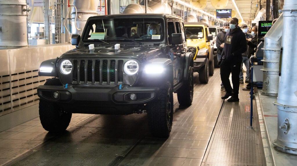 2021 Jeep Wrangler 4xe plug-in hybrid production