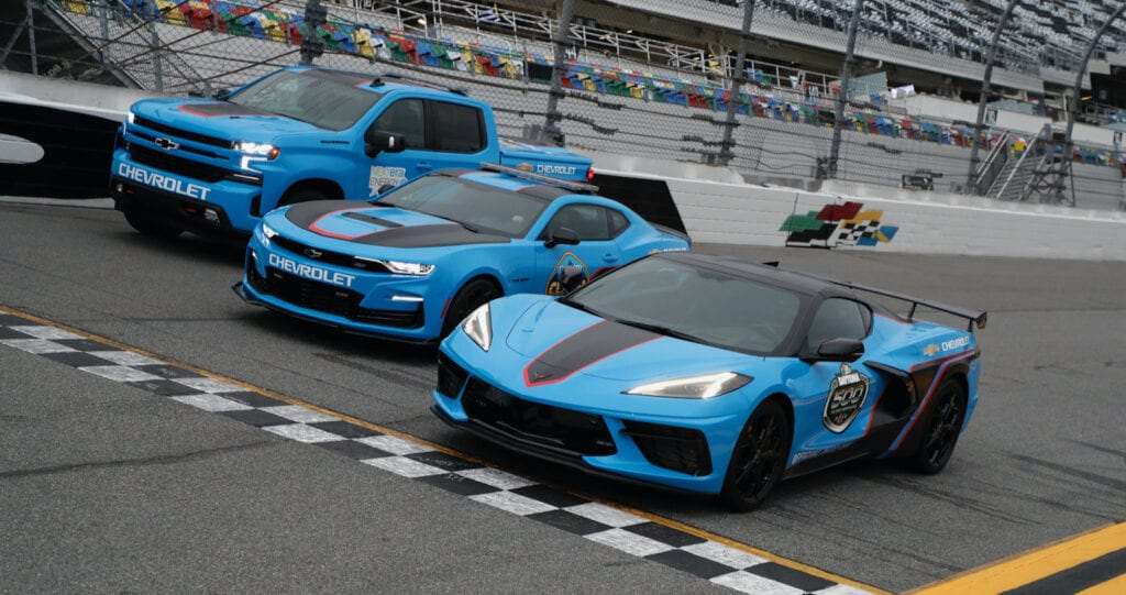 Corvette, Camaro and Silverado pace cars