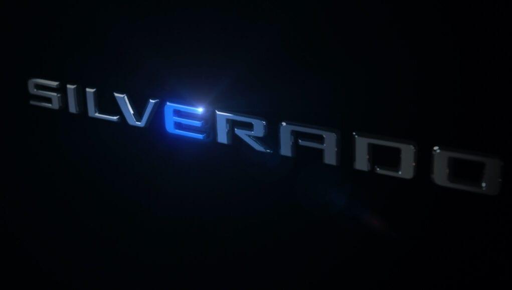 electric chevy silverado teaser