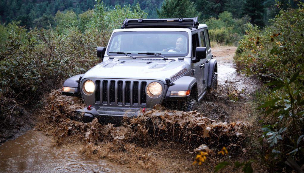 2021 Jeep Wrangler Rubicon with Sunrider Flip Top for Hardtop