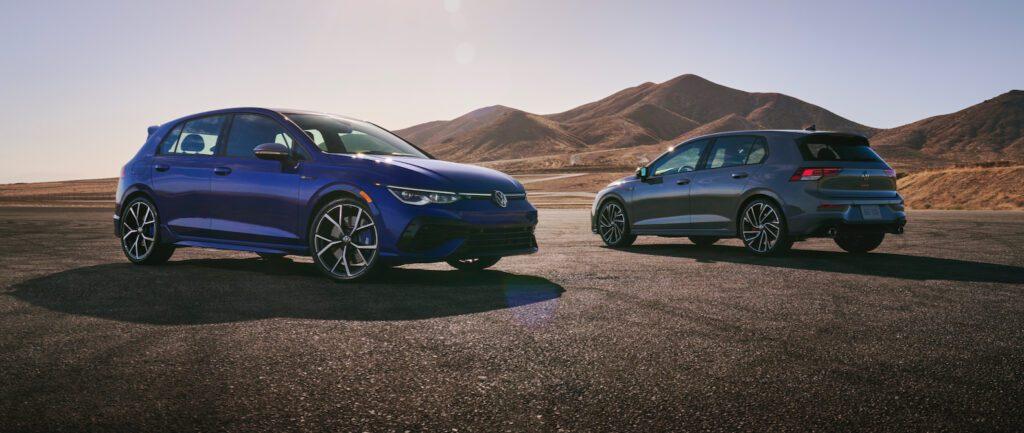 2022 VW Golf GTI and Golf R